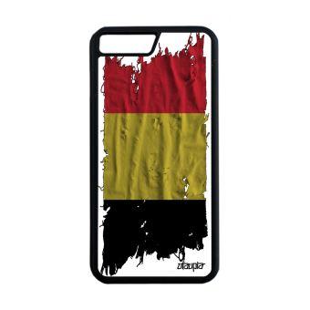 Coque pour iPhone 7 Plus silicone drapeau Belgique belge telephone basket Apple