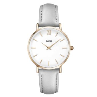 design de qualité 254b1 ac2ac CLUSE Minuit Rose Gold White/Grey 33m montre CL30002