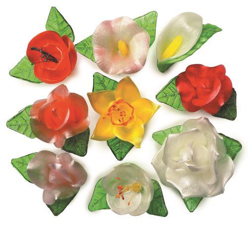 Bouquet floral sucre tire
