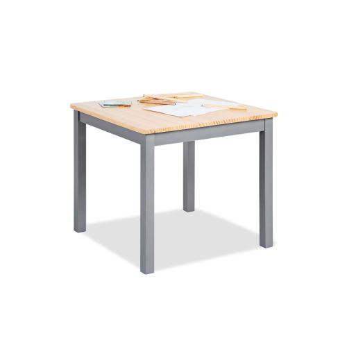 Table enfant Fenna gris naturel 57x57cm
