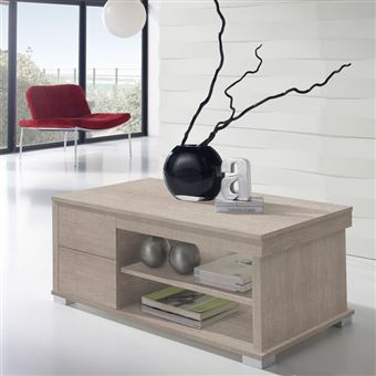 Table basse chêne clair relevable - NESE