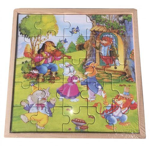 Lot De 3 Puzzles 18 Cm Par 18 Cm De 25 Pièces En Boite (2338)