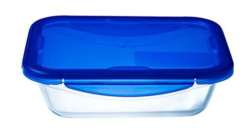 Boite de conservation Pyrex® rectangulaire 30 x 23 cm en verre avec couvercle étanche, Cook & Go