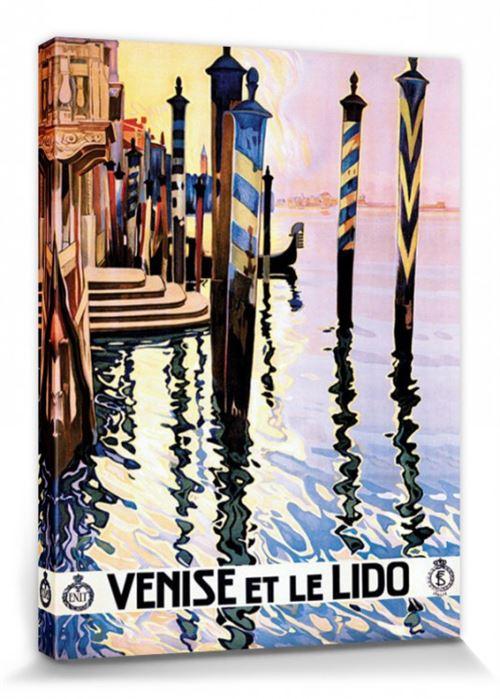Venise Poster Reproduction Sur Toile, Tendue Sur Châssis - Venise Et Le Lido, Italy Piddix (80x60 cm)