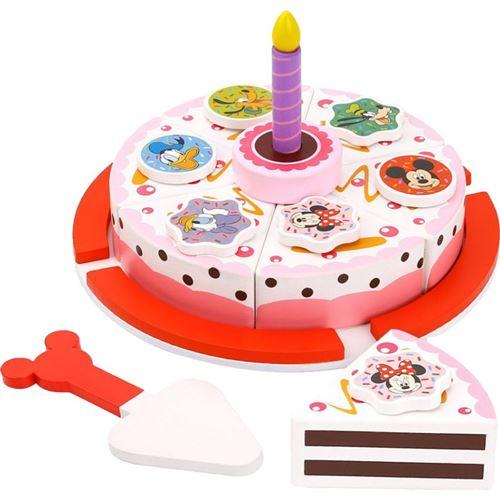 Disney gâteau d'anniversaire junior 19 cm en bois 8 pièces