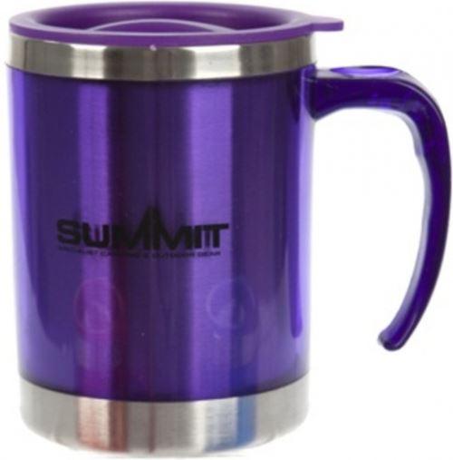 tasse à boire avec couvercle aluminium violet 450 ml
