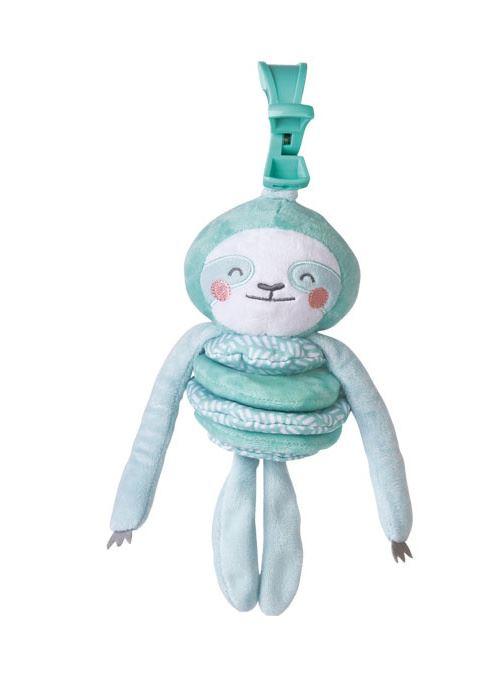 Saro figurine suspendue Wild Colors paresseux polyester vert menthe