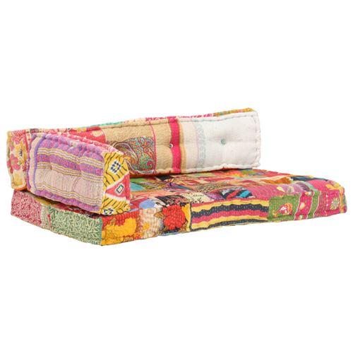 Chunhe Coussin de canapé palette Multicolore Tissu Patchwork AB287722