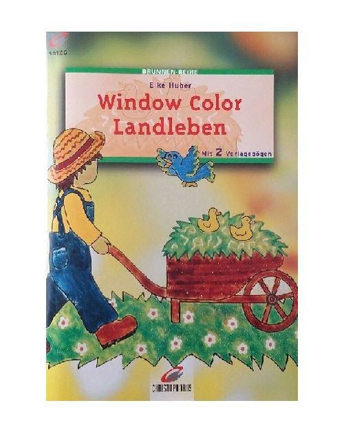 Livre motif window color le jardin - modele peinture fenetre (langue allemand)