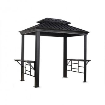 Tonnelle barbecue Messina 5,23 m² Sojag 1,79 x 2,92 m gris ...