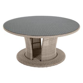 Table ronde d\'extérieur Cocoa grège Hespéride
