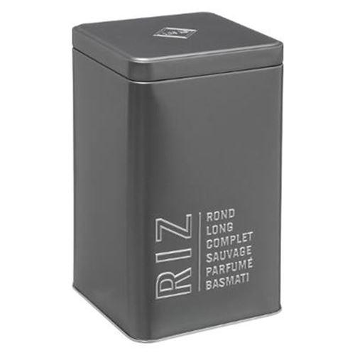 Boîte à Riz Relief V 18cm Gris