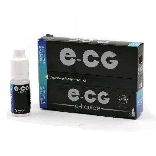 Lot de 5 Flacons E-CG - Menthe Glaciale 0 mg/ml