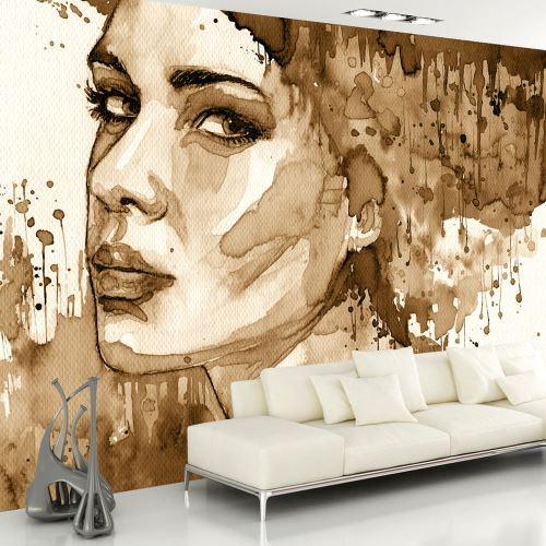 Papier peint - Female Portrait (Sepia) - 350x245 - Personnes