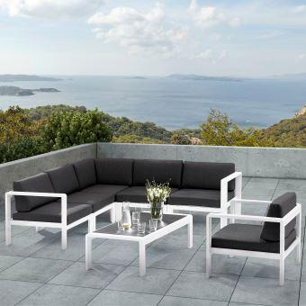 Ensemble salon de jardin design orlando modèle 5 - Mobilier de ...