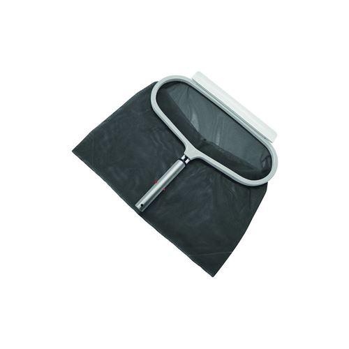 Épuisette de fond piscine a grand filet avec cadre alu gamme luxe, tous couleur alu.