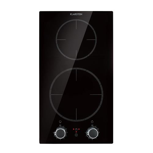 Klarstein Kochheld Double plaque de cuisson à induction encastrable , 2900W , verre noir