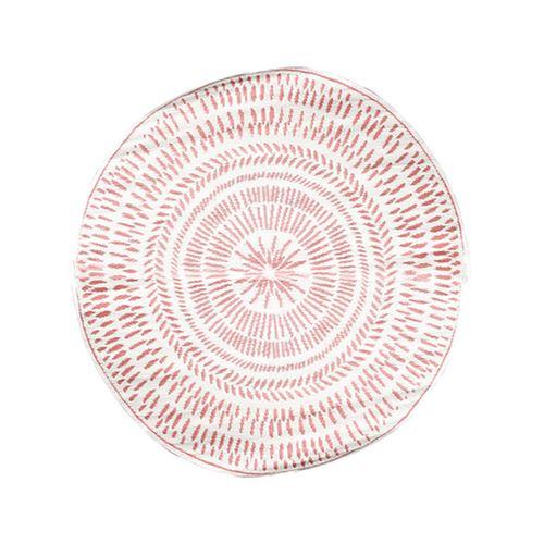 Tapis de déco extérieur ethnique Laura - Diam. 150 cm - Marron terracotta