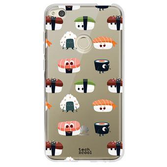 coque pour Huawei P8 Lite 2017 TPU Silicone motif de fond drôle sushi transparent