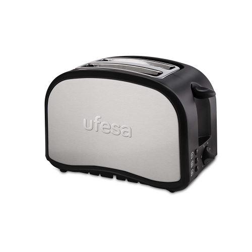 Ufesa TT7985 Grille-pain optique, argenté, noir
