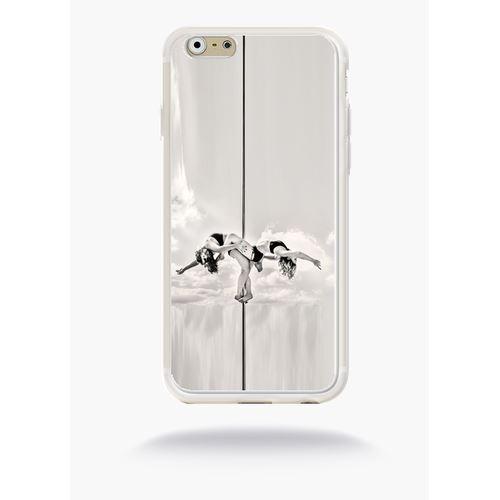 Coque Pole Dance Nuage Compatible Apple Iphone 6s Silicone Blanc Mat