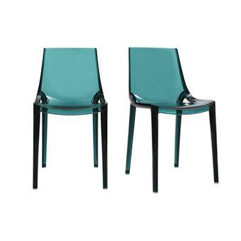 Sedie Design Impilabili.Sedie Design Verde Acqua Impilabili Gruppo Di 2 Yzel