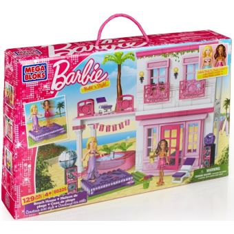megabloks 80226u jeu de construction la maison de la plage barbie achat prix soldes fnac - Jeu De Construction De Maison Gratuit