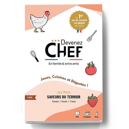 Devenez Chef - Jeu de société culinaire - Menu Saveurs du terroir - Devenez Chef