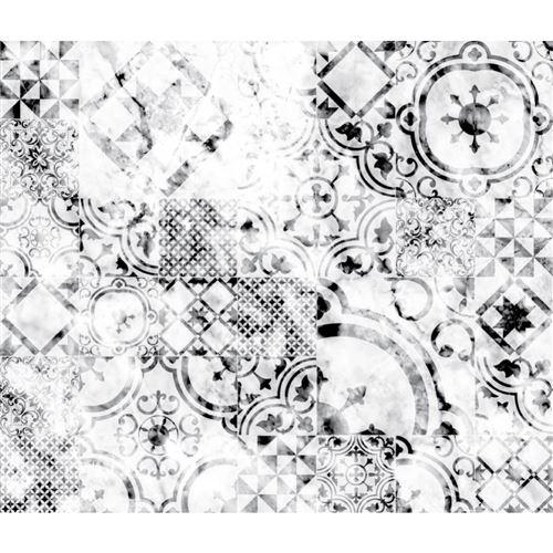 Crédence adhésive en alu imitation Marbre - L. 20 x l. 20 cm - Blanc - Design CPM - Patch