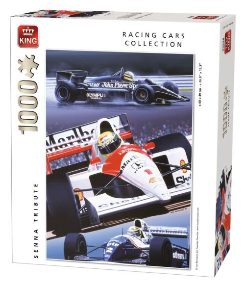 Puzzle 1000 pièces racing cars collection : hommage ayrton senna king puzzles