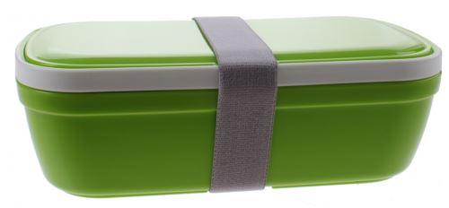 boîte à lunch My Bento avec couverts 20 cm vert 1.5 litres
