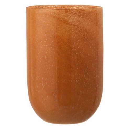 Paris Prix - Vase Rond En Verre Design median 35cm Orange