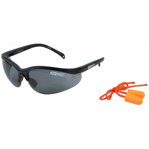KS Tools Lunettes de sécurité avec bouchons d'oreille Gris 310.0171