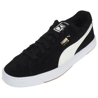 Puma 40 Chaussures et Taille Suède Noires Blanches cF5lKuT1J3