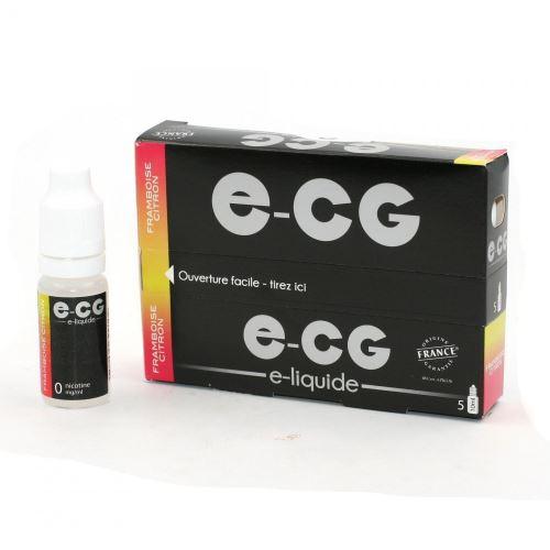 Lot de 5 Flacons E-CG - Framboise-Citron 0 mg/ml