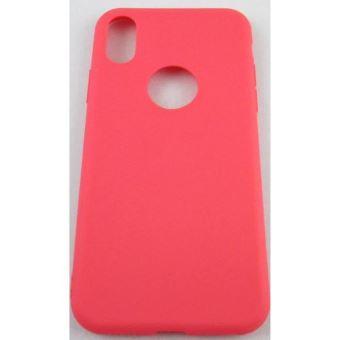 coque iphone x iphone 10 rose fushia en silicone