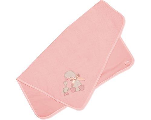 Snuggle Baby couverture bébé canard 70 x 70 cm rose