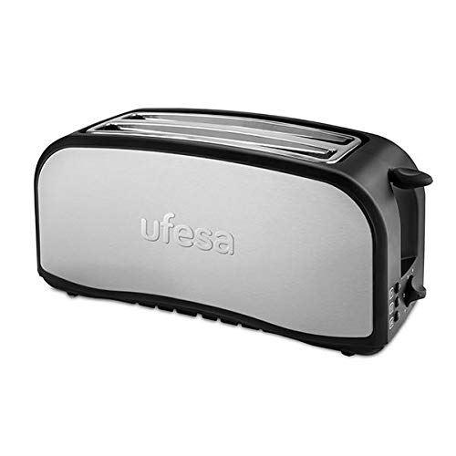 Ufesa TT7975 Grille-pain optique, argenté/noir