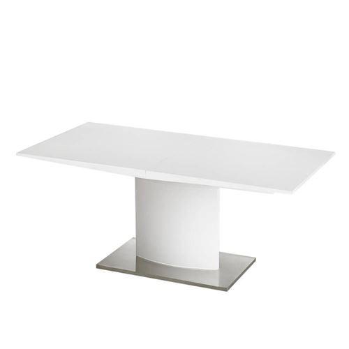 Table extensible 160/200x90 cm SINA design laqué blanc brillant