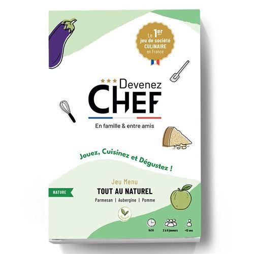 Devenez Chef - Jeu de société culinaire - Menu Tout au naturel - Devenez Chef
