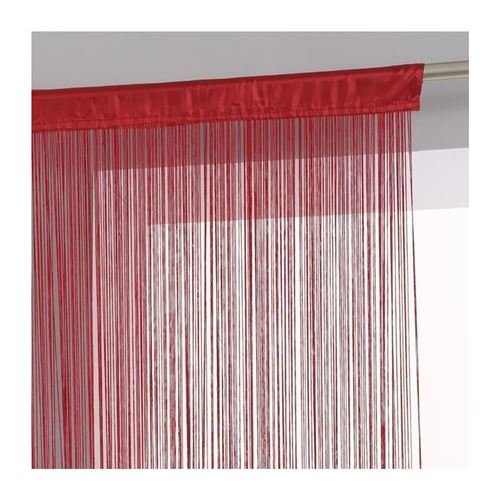 Rideau Fil 90x200cm Rouge