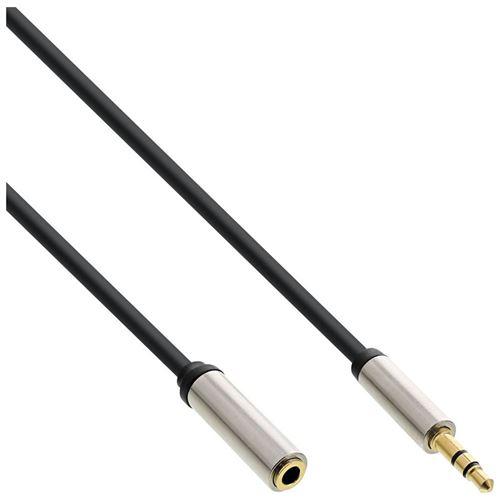 Câble audio Slim InLine® de 3,5 mm mâle à femelle stéréo 5 m