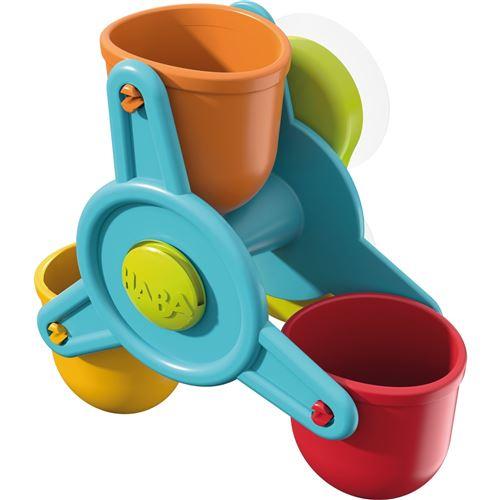 Haba jouets de bain en marbre effets d'eau de cour multicolore 3 parties