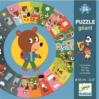 Puzzle géant La journée Djeco