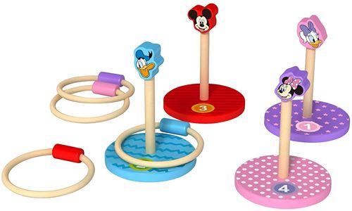 Disney anneau lance Mickey Mouse junior 14,5 cm bois 8 pièces