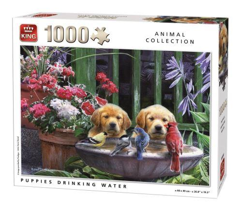 Puzzle 1000 pièces : retrouvailles autour du point d'eau king puzzles