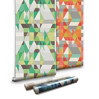 Papier Peint Geometrique Graphique Labyrinthe 3d Vert 5 3m2