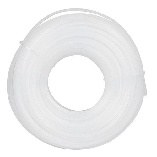 Corde de Tondeuse à Gazon en Forme de Carré Blanc de 3 Mm X 60 M