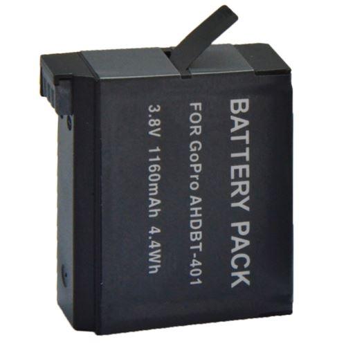 Accessoires Gopro Batterie et Chargeur AHDBT-401 3.8V 1160mAh Batterie de remplacement pour appareil