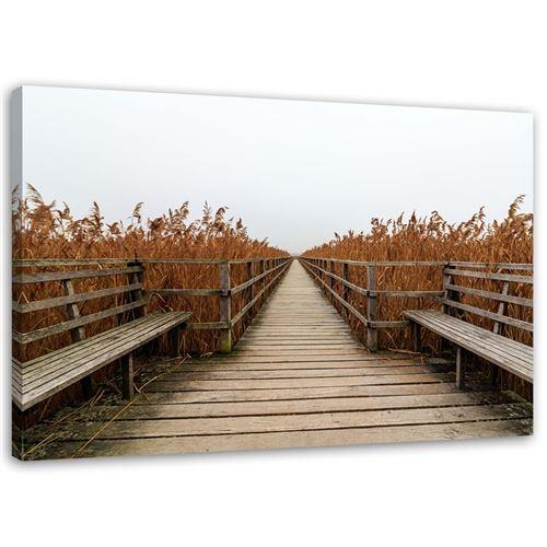 Tableau sur toile Image Cadre moderne Canevas Long pont 90x60